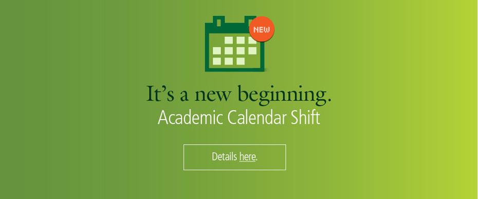 academic calendar shift